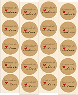 Homemade with Love Stickers   100 Pack   1.5