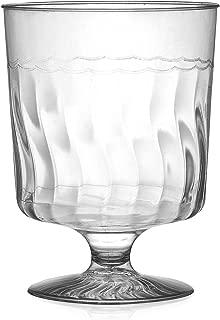 Fineline Settings Flairware Clear  8 oz. One Piece Wine Glass  240 Pieces