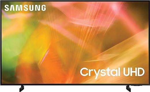 SAMSUNG 43-Inch Class Crystal UHD AU8000 Series - 4K UHD HDR Smart TV with Alexa Built-in (UN43AU8000FXZA, 2021 Model)