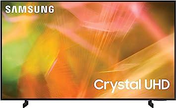 SAMSUNG 65-Inch Class Crystal UHD AU8000 Series - 4K UHD HDR Smart TV with Alexa Built-in (UN65AU8000FXZA, 2021 Model), Black