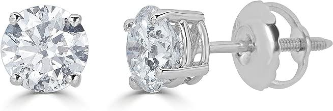 14K Gold Round-Cut Diamond Stud Earring (1/4 - 2 cttw, J-K Color, I2-I3 Clarity)