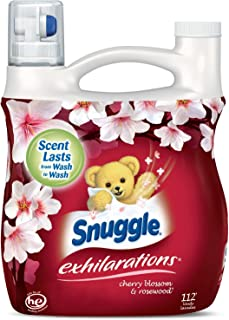 Snuggle Exhilarations Liquid Fabric Softener, Cherry Blossom & Rosewood, 96 Fluid Ounces - Pack of 3