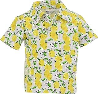 Unique Baby Boys Lemon Print Short Sleeve Collared Polo Shirt
