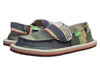 Sanuk Kids Lil Donny Funk (Toddler/Little Kid) (Navy Multi Blanket) Boys Shoes