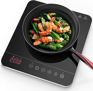 Aobosi plaque à induction, vitrocéramique avec plaque à affichage à LED à affichage numérique, plaque de cuisson à inducti...