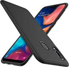 iBetter per Samsung Galaxy A20e Cover, Thin Fit Gomma Morbida Protettiva Cover, Protezione Durevole,per la Samsung Galaxy A20e Smartphone.(Nero)