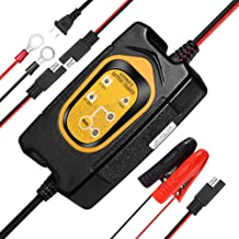 Upgrade Battery Maintainer & Charger, 1.5A Portable Trickle Charger with 6V/12V Memory Function for Car Motorcycle Lawn Mower SLA AGM GEL CELL WET Lead Acid Batteries