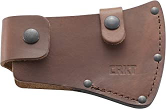 CRKT Birler Axe Sheath: Full Grained Leather, Multiple Snaps, Belt Loops for Secure Carry of Axe, for Use with CRKT 2745 D2745