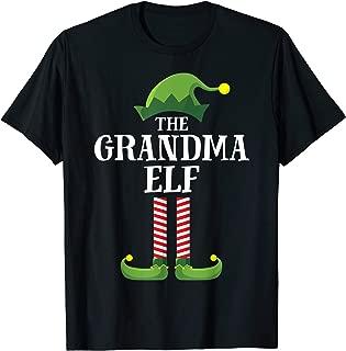 Grandma Elf Matching Family Group Christmas Party Pajama T-Shirt