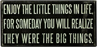 Primitives by Kathy 15861 Classic Box Sign, 8 x 4-Inches, Enjoy The Little Things