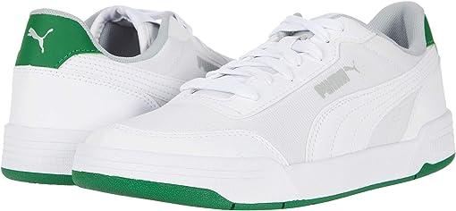 Puma White/Puma White/Amazon Green