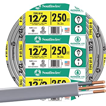 Stock Wire 28794-150 Underground Feeder and Direct Earth Burial Cable 150ft cut 10//2 UF-B Wire
