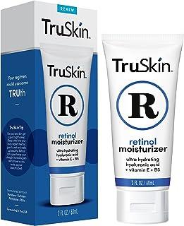 TruSkin الريتينول كريم مضاد للتجاعيد مرطب للرعاية الوجه ومنطقة العين مع حمض الهيالورونيك، الشاي الأخضر، 2 أوقية فلوريدا