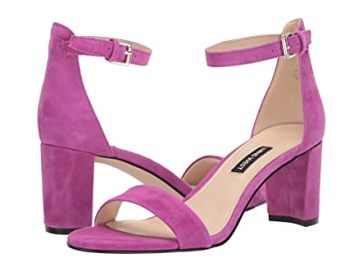 Nine West Pruce Block Heel Sandal (Fuchsia) High Heels