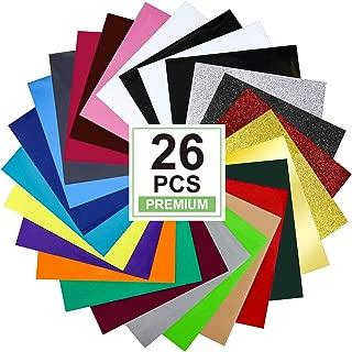 CAREGY Heat Transfer Vinyl HTV Bundle: 22 Pack Assorted Colors 12