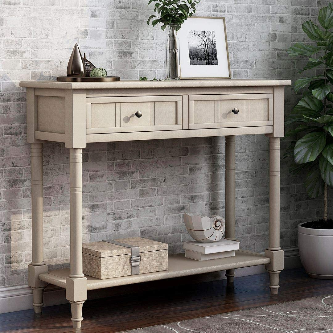 MGRL Console Table Regular dealer Entryway Hallway Drawers 2 an with Max 63% OFF Sofa