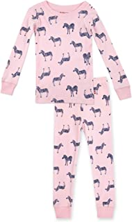 Baby/Toddler Girls Two-Piece Footless Pajamas, Organic Cotton, Snug-Fitting PJs