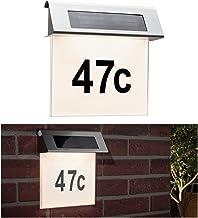 Paulmann 937.65 Special Solar Hausnummernleuchte IP44 LED Warmweiß inkl. 0.2W 93765 Solarleuchte Aufbauleuchte Hausnummer ...