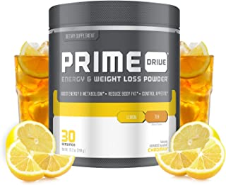 Complete Nutrition Prime Drive Energy & Weight Loss Powder, Lemon Tea, Increase Energy, Boost Metabolism, Fat Burner, Appetite Suppressant, 10.2oz (30 Servings)