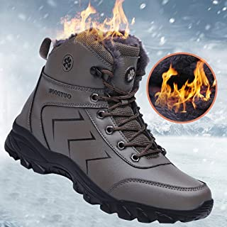 ✪COOLGIRLS✪~Shoes Winter Men Lace-Up Mountaineering Sport Shoes Keep Warm Mountaineering Snow Boot Ultra Flex Non-Slip Outdoor Shoes