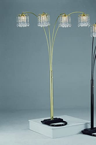 2021 Gold Rain Drop Arc Floor Lamp 91''H by Crown lowest online Mark online