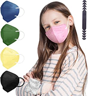 KN95 Kid Mask for Children, Colored Mask Individual Wrapped 20 Packs, Kid Sized Mask Soft with Adjustable Nose Clip for Sm...