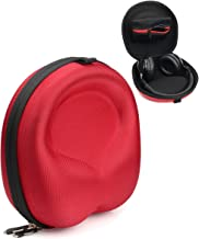 Red Headphone Case for Beats EP, Studio3, Jabra Move, Skullcandy Hesh3, Hesh 2, Hesh 2 Wireless, Grind, Crusher, Uproar; MPOW 059, H1, Thor, H5, Acekool, Dylan, Picun P7, BestGot, Sound Intone CX-05
