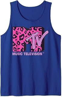 MTV Logo Pink Leopard Print Tank Top