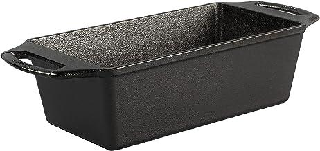 Lodge BW8LP 8.5 x 4.5 Inch Seasoned Cast Iron Loaf Pan, 8.5x4.5 Inch, Black