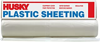 Husky Plastic Sheeting Clear 4ml 10ft x 25ft