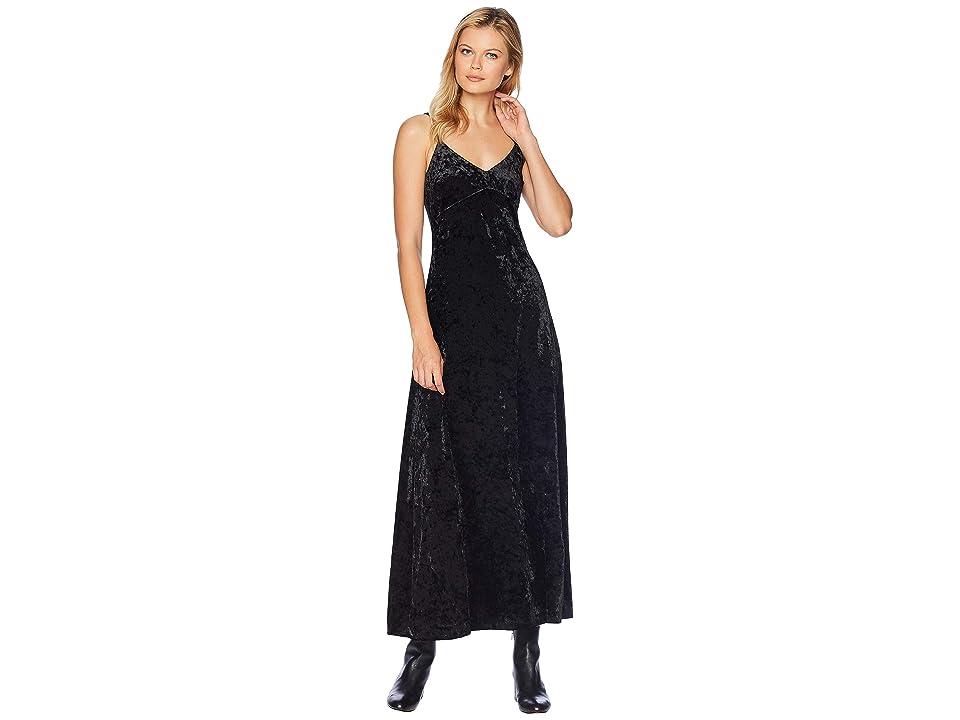 MICHAEL Michael Kors Crush Velvet Tank Maxi Dress (Black) Women