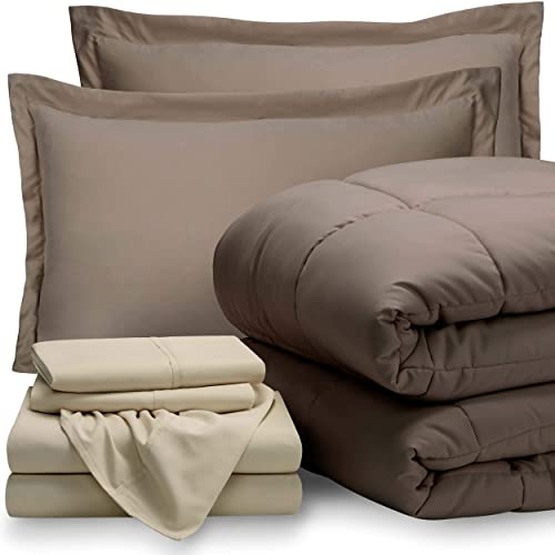 Bare Home Bed-in-A-Bag 7 Piece Comforter & Sheet Set -