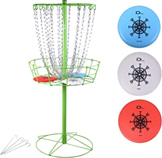 Disc Golf Basket Portable Metal Disc Golf Target Flying Disc Golf Practice Basket Indoor & Outdoor