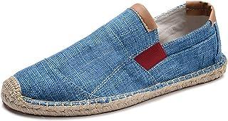Hommes Espadrilles Couleur Unie Succinct Slip-on Mocassins Bas Plat Antidérapant Léger Respirant Chaussures en Toile