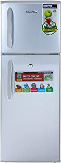 Geepas Energy Saving Double Door Direct Cool Refrigerator, Silver - GRF1856WPN, 2 Years Manufacturer Warranty