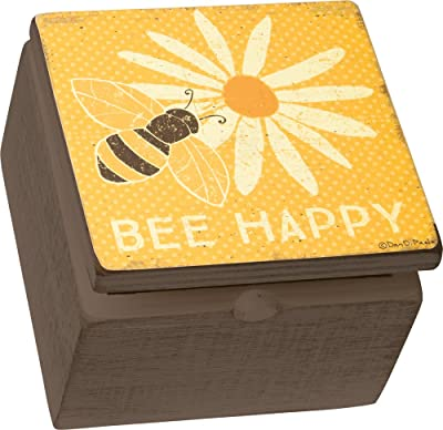 Box Sign Box - Bee Happy, Set of 2