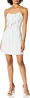 cupcakes and cashmere womens soleil yarn dye multi strap shift dress with tie detail Dress