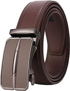Dante men's Ratchet Click Slide Dress Belt with Genuine Leather,Trim to Fit