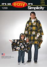 Simplicity Creative Patterns 1269 It's So Easy Stadium Poncho in Two Sizes, Size: A ALL SIZES