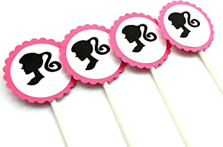 barbie silhouette cupcake toppers
