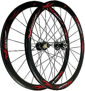 バイクホイール 700C ディスクブレーキ 自転車ホイールセット 車輪 フロントリア ホイール 二重壁リム 40MM 平らな棒 3.0 V/Cブレーキ 7/8/9/10/11/12スピード