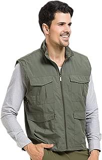 Men's Multi Pockets Mesh Lining Vest Comfortable Hiking Fishing Tops