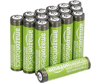 AmazonBasics – AAA-batterijen met hoge capaciteit, oplaadbaar, 850 mAh (16 stuks), voorgeladen
