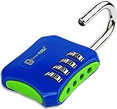 Hangslot met cijfercode 4 cijfers voor kluisjes, sport, school- of fitnessstudio, buitendeur/veiligheidsslot zonder sleute...