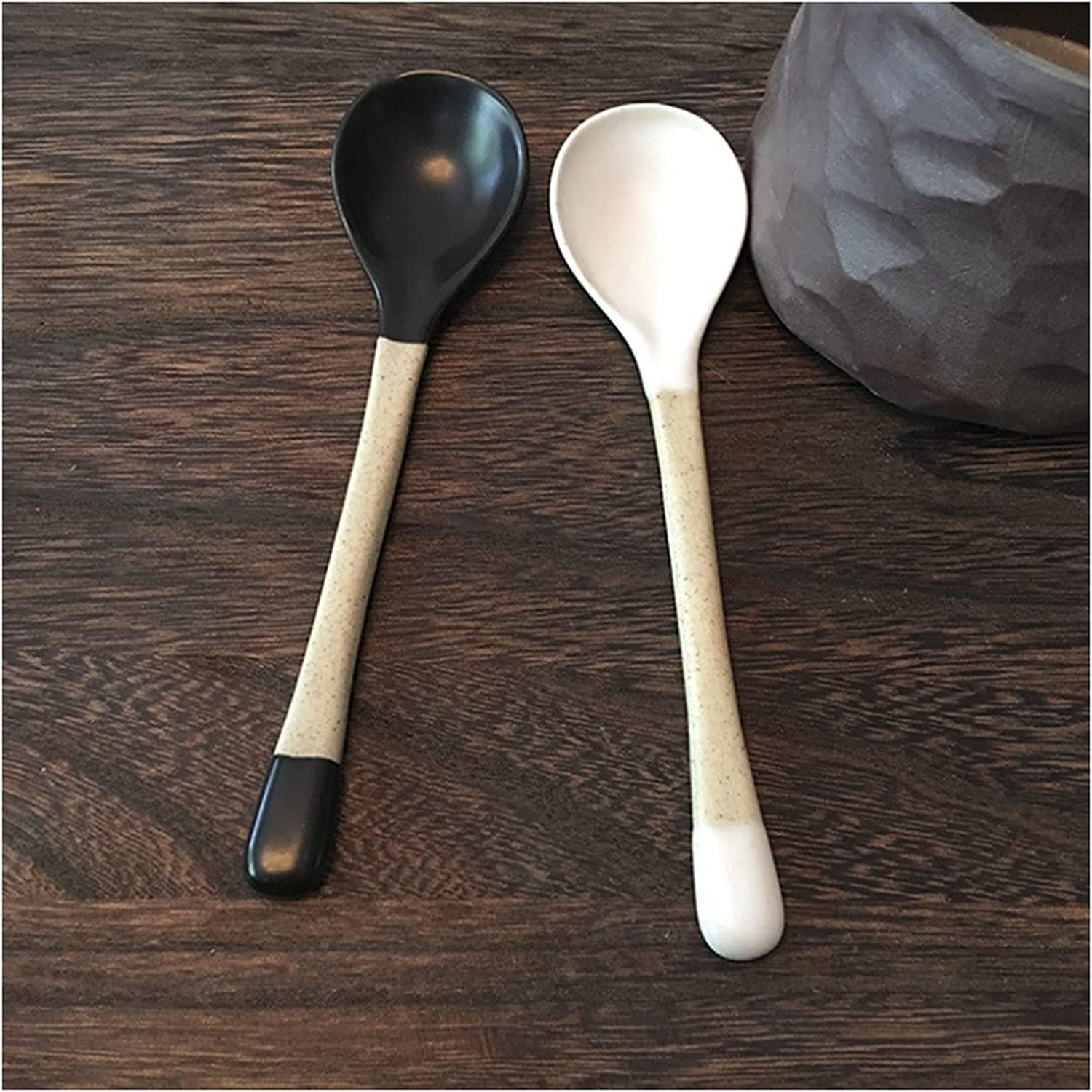 Spoon Two-piece Handmade High material Ceramic Handle Couple Max 65% OFF Coffee Long