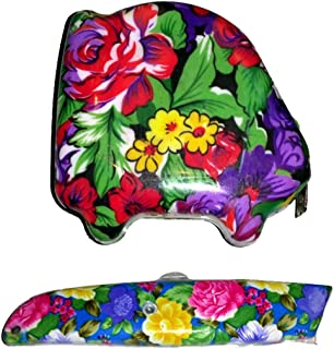 LADIES FLOWER FLORAL BOX CUTTER UTILITY KNIFE RAZOR AND 10 FOOT TAPE MEASURE {jg}