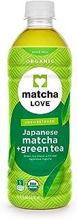 Matcha Love Organic Matcha and Green Tea Traditional 470 ml (Pack of 12) Unsweetened Zero Calories USDA Organic No Artificial Preservatives Antioxidant Rich BPA Free Packaging may vary