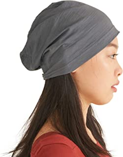 Mens Light Weight Summer Beanie - Womens Slouchy Beanie Hat Stretchy Slouch Knit Cap 100% Cotton Chemo Hat