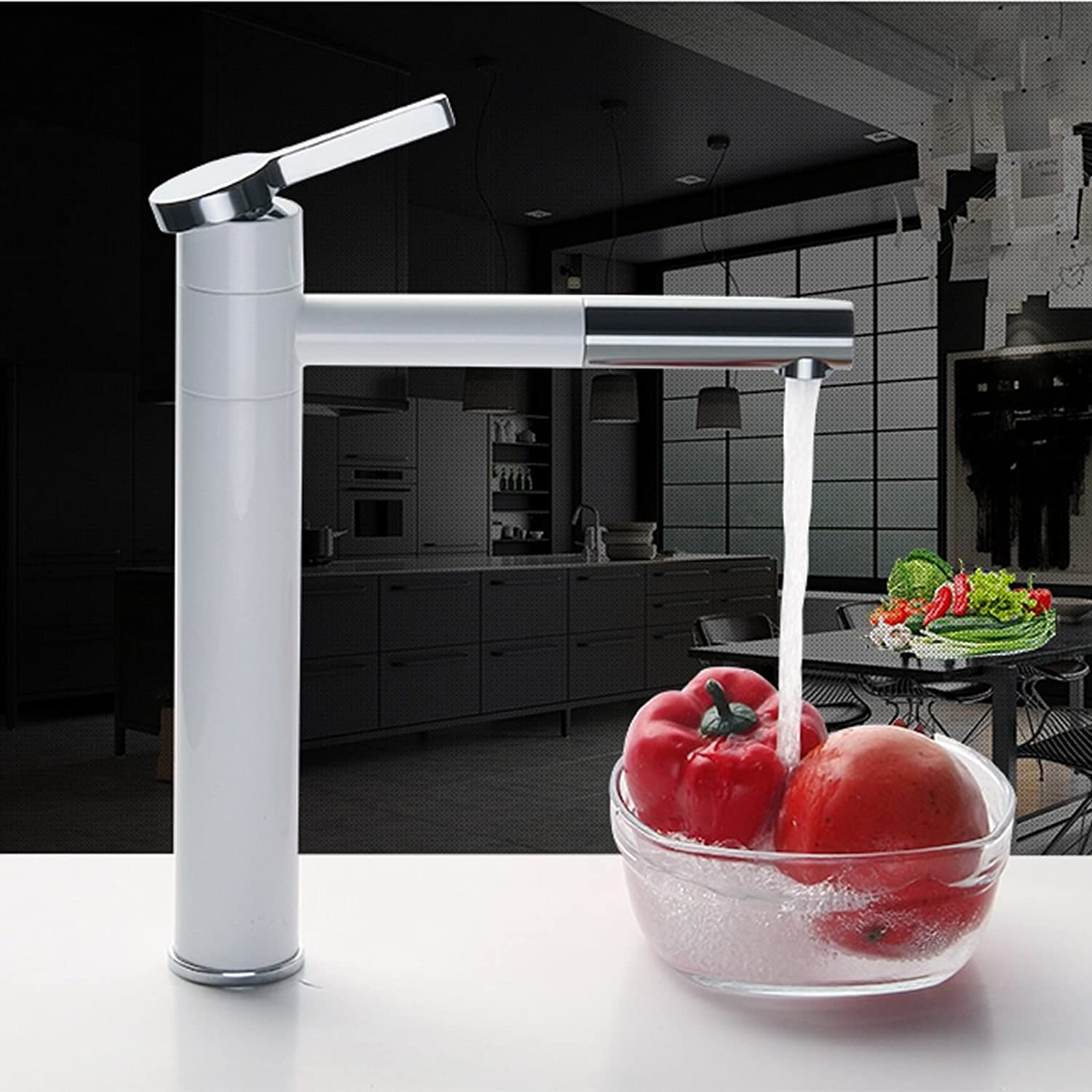 White copper hot and cold redating European table wash basin paint faucet
