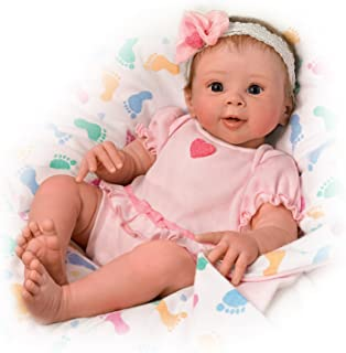 Ella Breathes When Touched- So Truly Real® Lifelike, Interactive & Realistic Weighted Newborn Baby Doll 17-inches by The Ashton-Drake Galleries